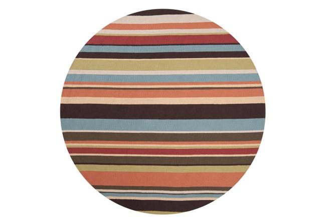 96 Inch Round Outdoor Rug-Montego Stripe Multi - 360