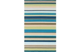 108X144 Outdoor Rug-Montego Stripe Blue/Green