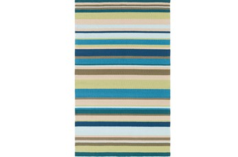 108X144 Outdoor Rug-Montego Stripe Blue/Green