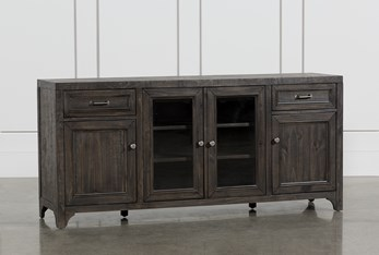 Valencia 70 Inch TV Stand With Glass Doors