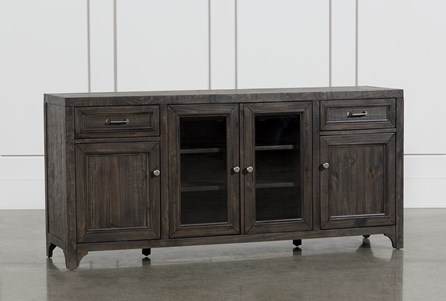 Valencia 70 Inch TV Stand With Glass Doors - Main