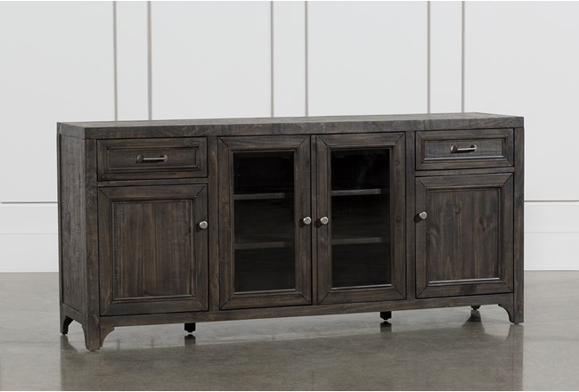 Valencia 70 Inch TV Stand With Glass Doors - 360