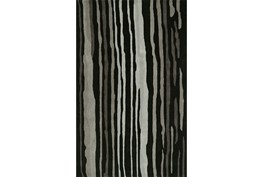 """5'x7'5"""" Rug-Striations Black And Charcoal"""