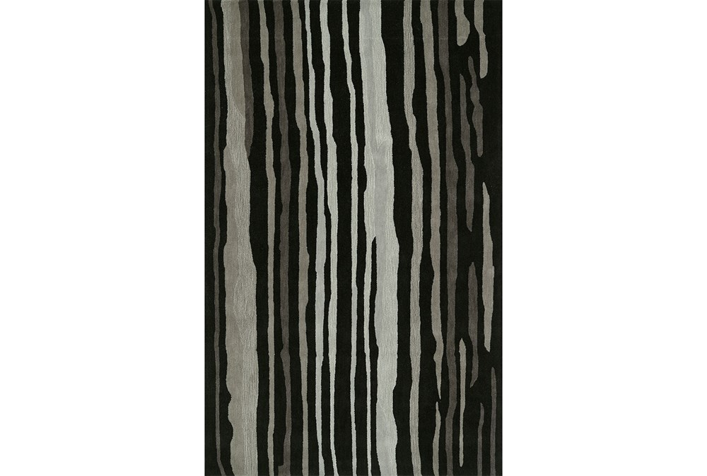 8'x10' Rug-Striations Black And Charcoal
