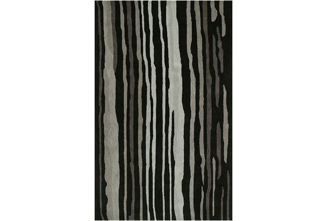 8'x10' Rug-Striations Black And Charcoal - 360