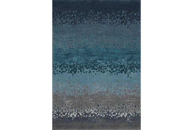 114X158 Rug-Layered Sand Turquoise - 360
