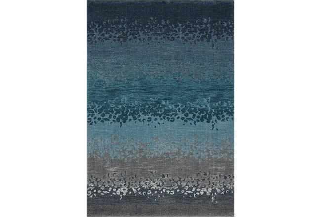 94X127 Rug-Layered Sand Turquoise - 360