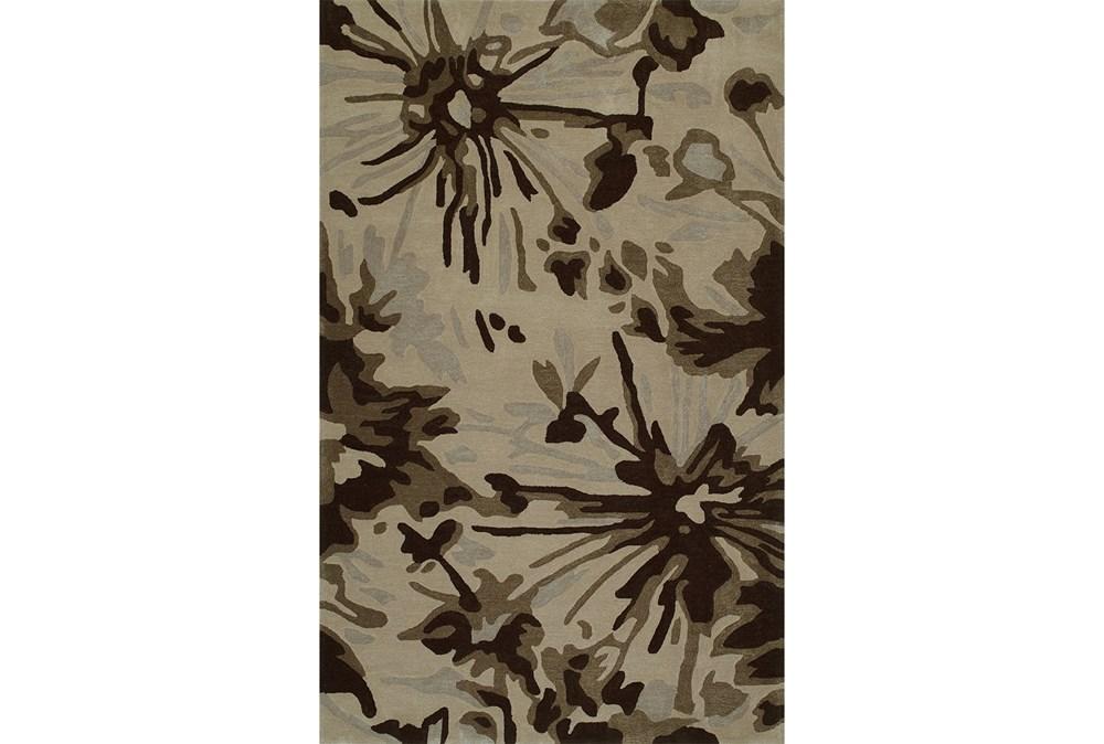 """3'5""""x5'5"""" Rug-Floral Burst Taupe"""