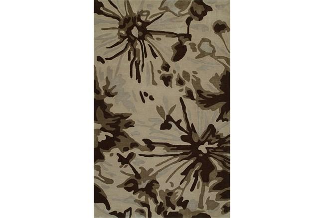 42X66 Rug-Floral Burst Taupe - 360
