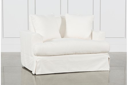 Solano Slipcovered Oversized Chair - Main