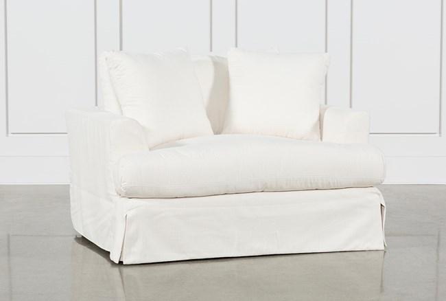 Solano Slipcovered Oversized Chair - 360