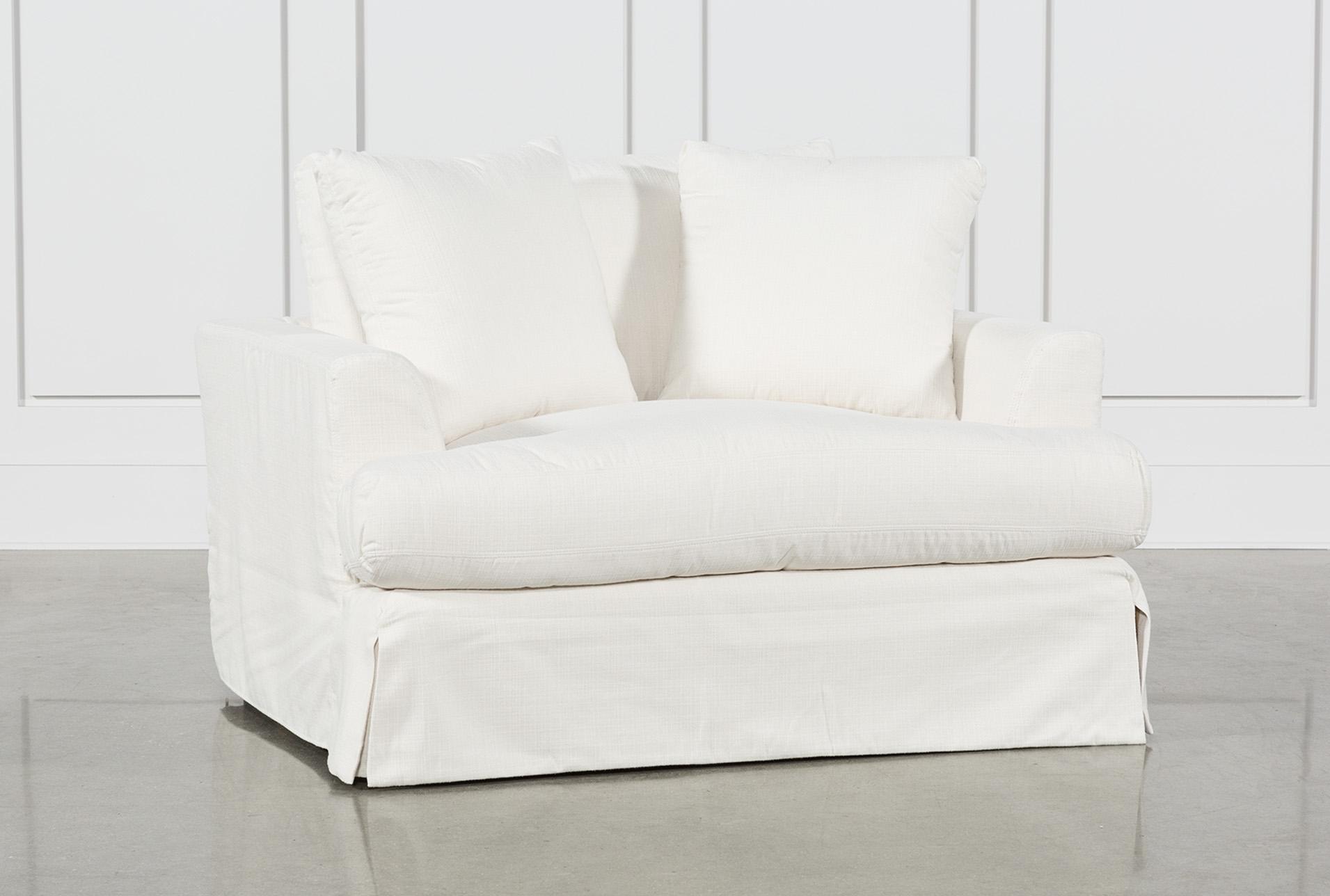 Solano Slipcovered Oversized Chair   360
