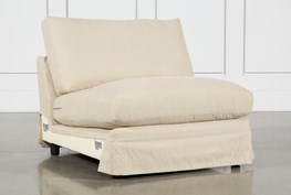 Solano Slipcovered Armless Chair