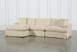 Solano Slipcovered 3 Piece Sectional W/Laf Chaise