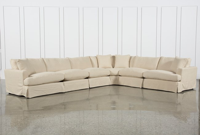 Solano Slipcovered 6 Piece Sectional - 360