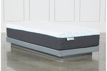 Kit-Revive H2 Medium Hybrid Twin Mattress W/Low Profile Foundation