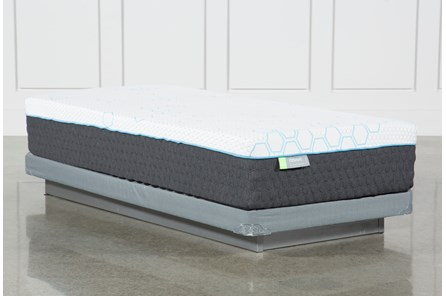H2 Medium Hybrid Twin Mattress W/Low Profile Foundation