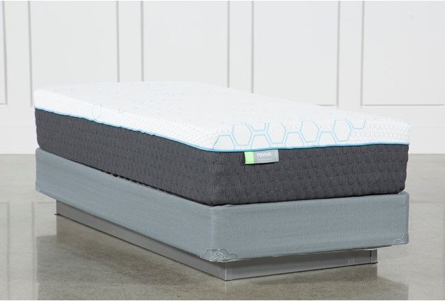 Kit-Revive H2 Medium Hybrid Twin Extra Long Mattress W/Foundation - 360