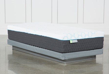 H2 Medium Twin Extra Long Mattress W/Low Profile Foundation