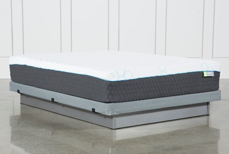H2 Medium Queen Mattress W/Low Profile Foundation