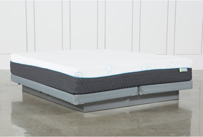 H2 Medium Hybrid Eastern King Mattress W/Low Profile Foundation - 360