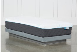 H2 Plush Hybrid Twin Mattress W/Low Profile Foundation