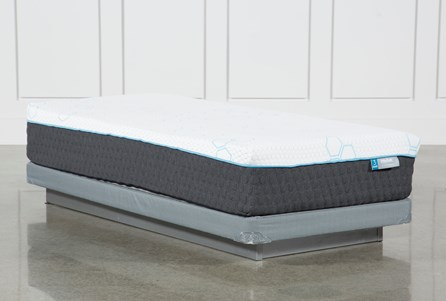 H2 Plush Twin Mattress W/Low Profile Foundation
