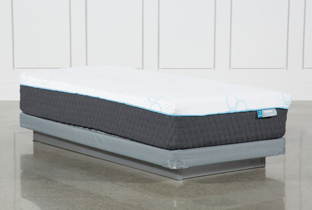 Kit-Revive H2 Plush Hybrid Twin Extra Long Mattress W/Low Profile Foundation