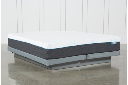 H2 Plush Hybrid Cal King Mattress W/Low Profile Foundation