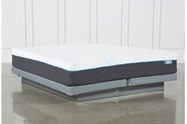 H2 Plush Eastern King Mattress W/Low Profile Foundation