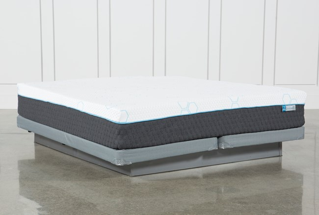 H2 Plush Eastern King Mattress W/Low Profile Foundation - 360