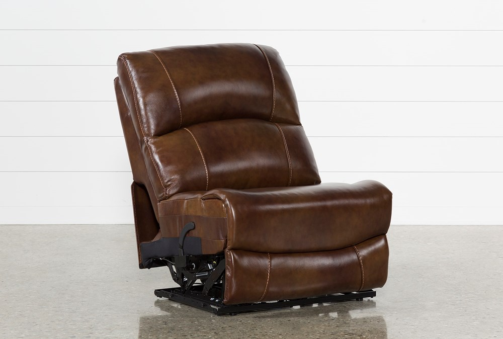 Travis Cognac Leather Armless Power Recliner