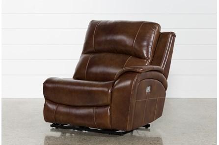 Travis Cognac Leather Raf Power Recliner W/Power Headrest And Usb