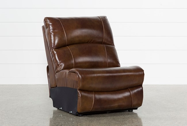 Travis Cognac Leather Armless Chair - 360