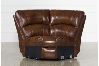 Travis Cognac Leather Corner Wedge