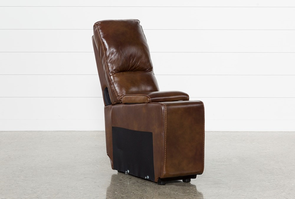 Travis Cognac Leather Console With Usb