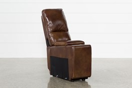 Travis Cognac Leather Console