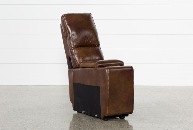 Travis Cognac Leather Console With Usb - 360