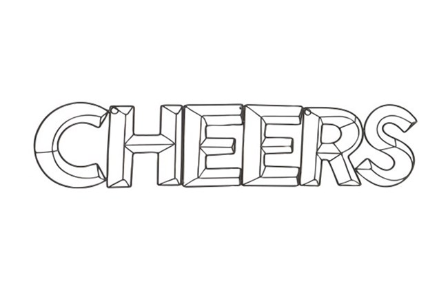 Cheers Metal Wall Decor - 360