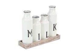 Milk Bottle Tray Set