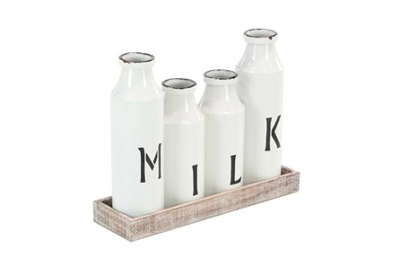 Milk Bottle Tray Set