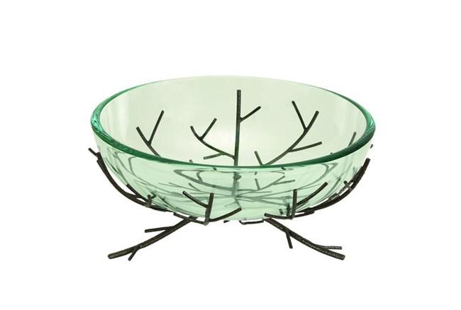 Glass Bowl Metal Stand - 360