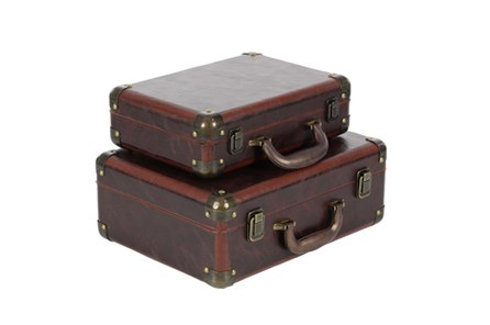 2 Piece Set Wood & Leather Cases - Main