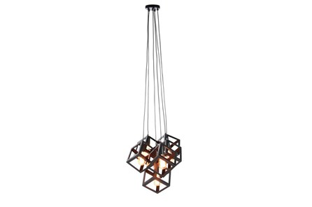 Pendant-Black Metal Cubes 6-Light - Main