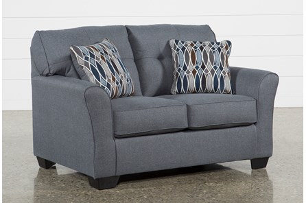 chilkoot gunmetal loveseat - Clearance Living Room Furniture