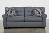 Chilkoot Gunmetal Full Sofa Sleeper - Left