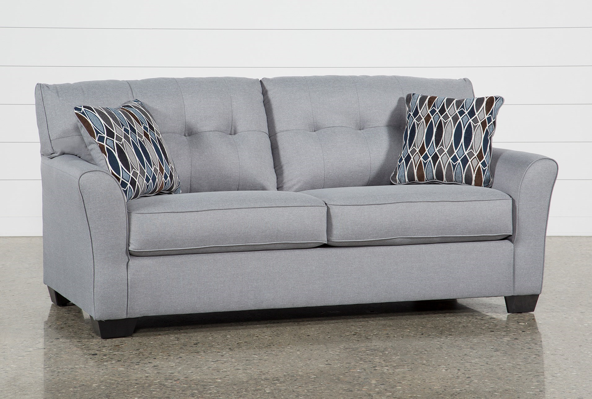 chilkoot smoke full sofa sleeper living spaces