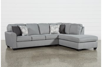 "Mcdade Ash 2 Piece 114"" Sectional With Right Arm Facing Armless Chaise"