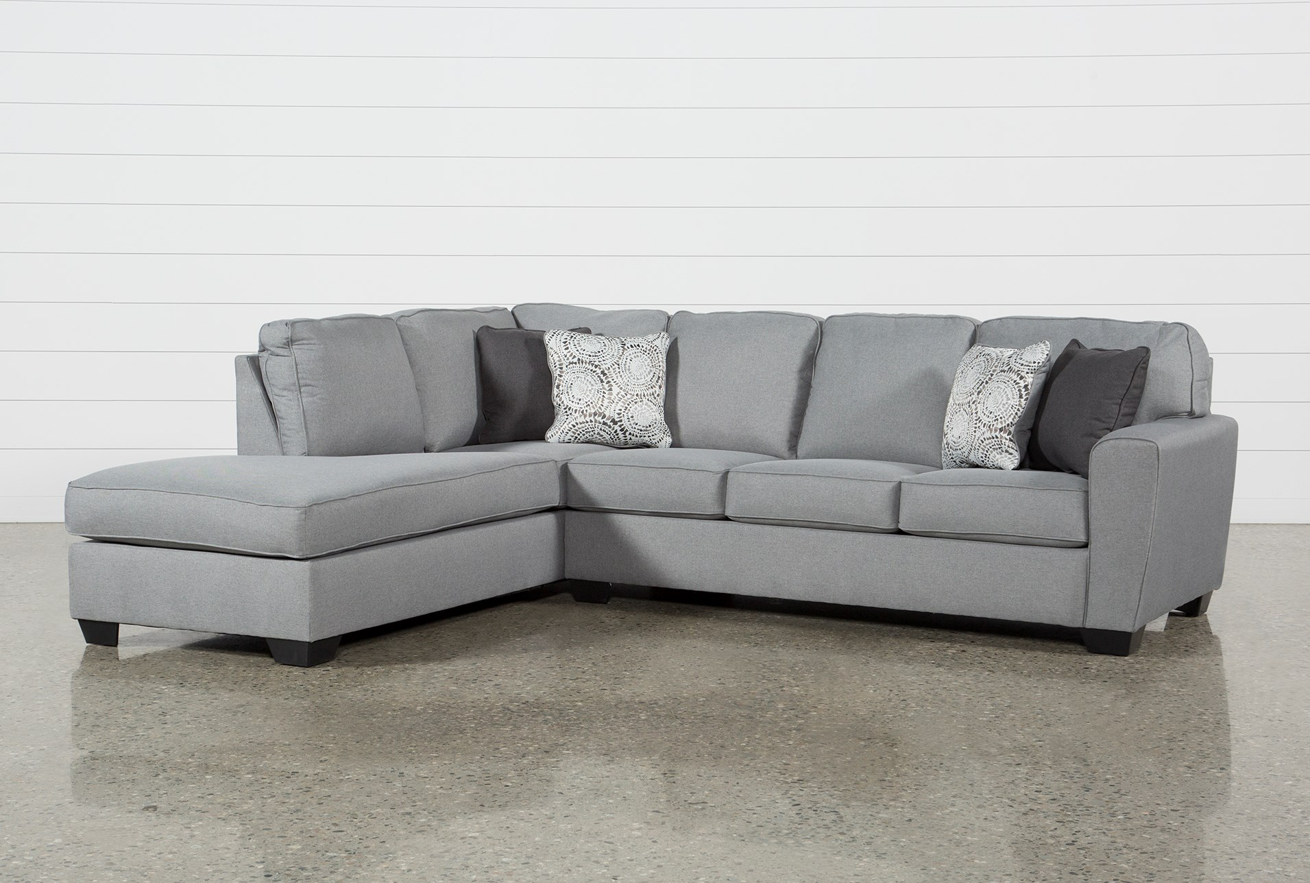 Mcdade Ash 2 Piece Sectional with Left Arm Facing Chaise | Living Spaces