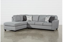Mcdade Ash 2 Piece Sectional With Left Arm Facing Armless Chaise